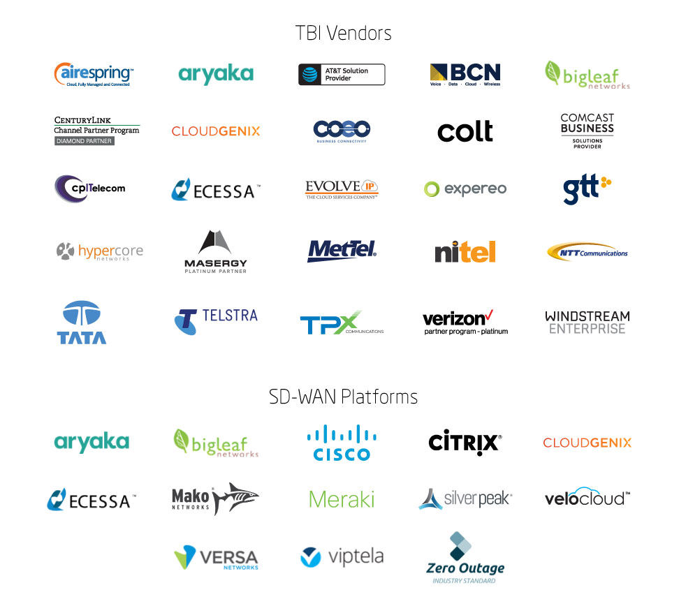TBI SD-WAN Vendors and Platforms